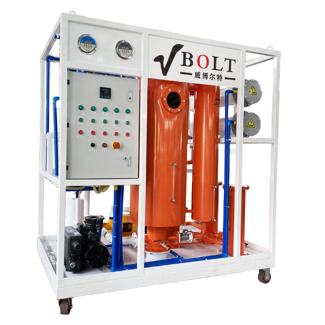 Moveable Industrial Oil Purifier Hydraulic Oil Cooking Oil Cleaning Machine For Power Station
