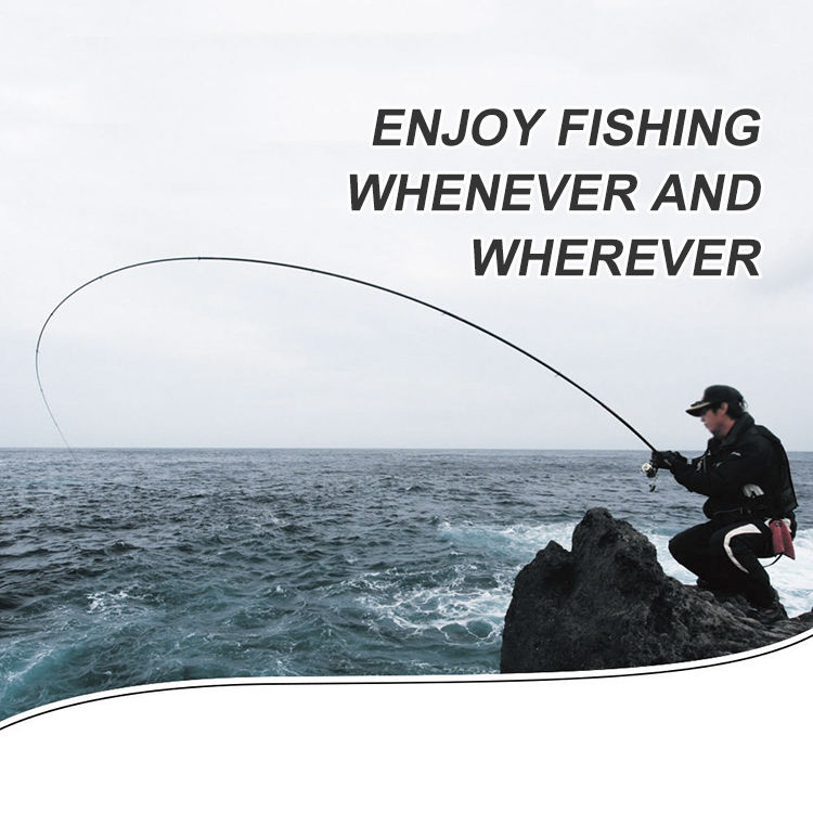 1set Fly Rod 9/' #5 4 PIECE Carbon Fiber Rod Aluminium Handle River Fly Fishing