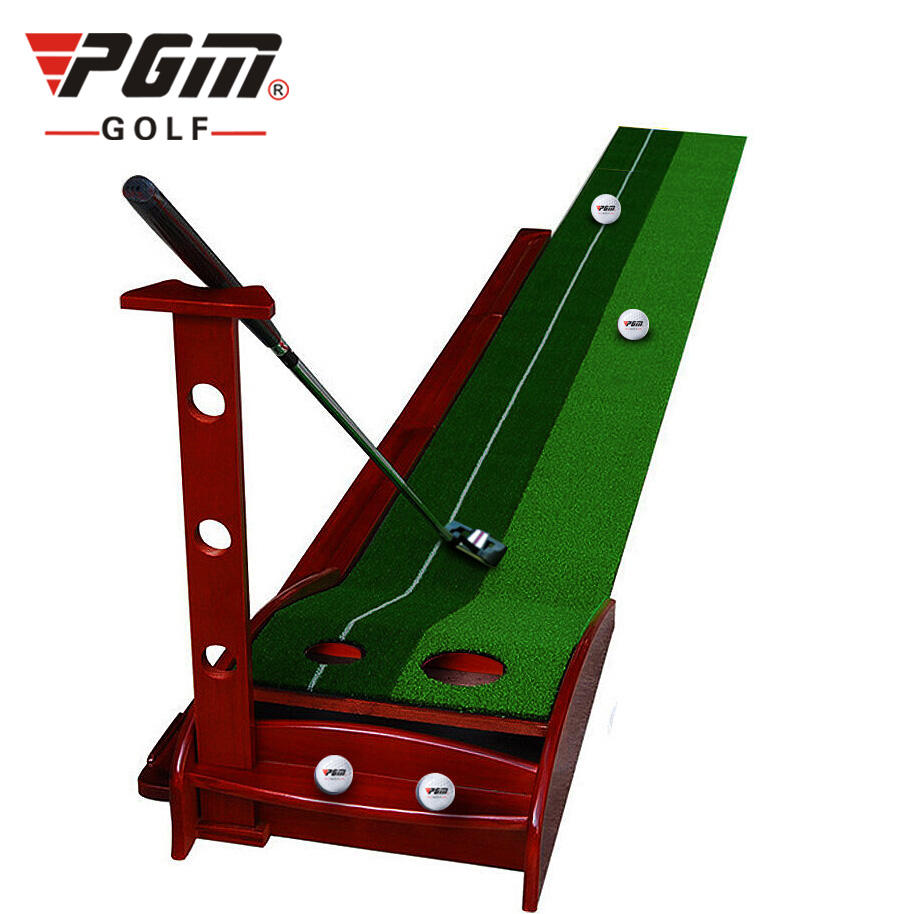 Solid Wooden Office indoor Mini Golf Putting Mat 300*30cm