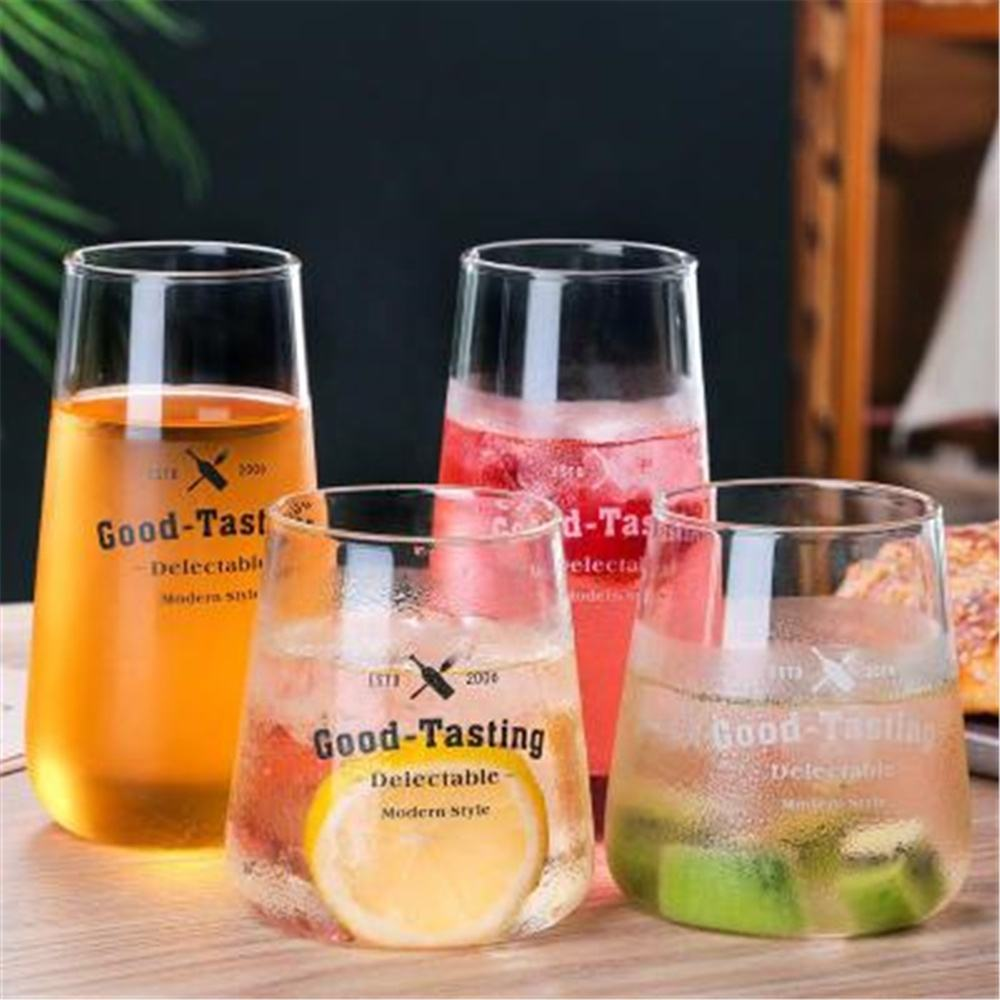 Simple Glass Cup Female Cute Girl Heart Coffee Cup Ins Wind Net Red Home Transparent Breakfast Cup