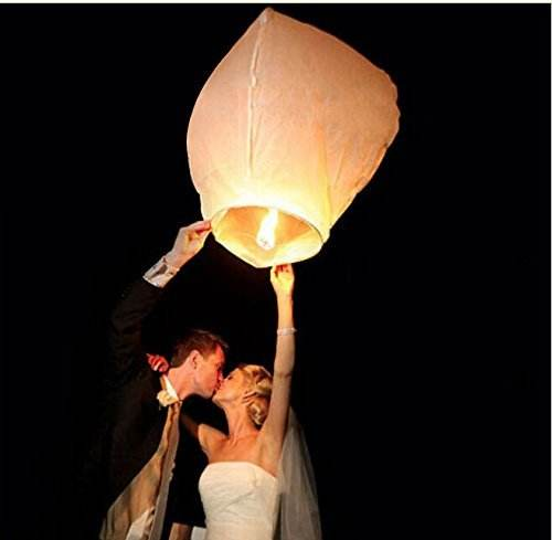 New Year Biodegradable Eco Friendly Fire Chinese Flying Sky Lanterns Retardant Paper Bamboo Chinese Flying Sky Lanterns