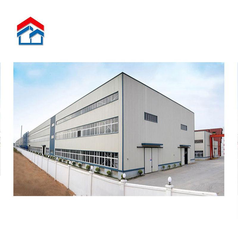 Prefab light steel structure storage workshop modular hall design