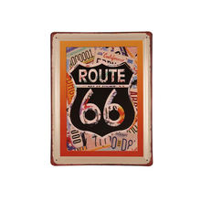 Wine Cars Motorcycle Route 66 Beauty Metal Craft Vintage Embossed Retro Tin Sign