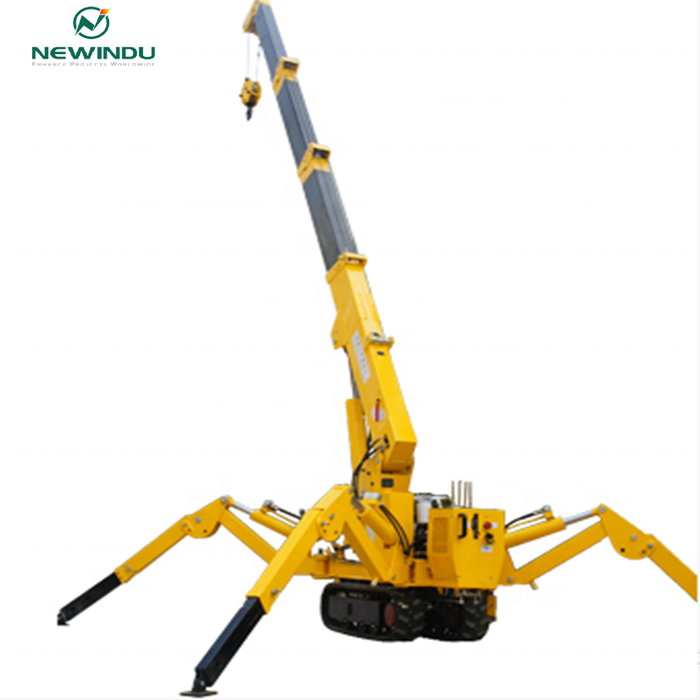 1ton Small Spider Crane KB1.0 for Narrow Space Work Overseas