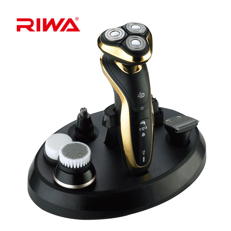 RIWA Triple Blades Waterproof Electric Rotating Blade Shaver For Men
