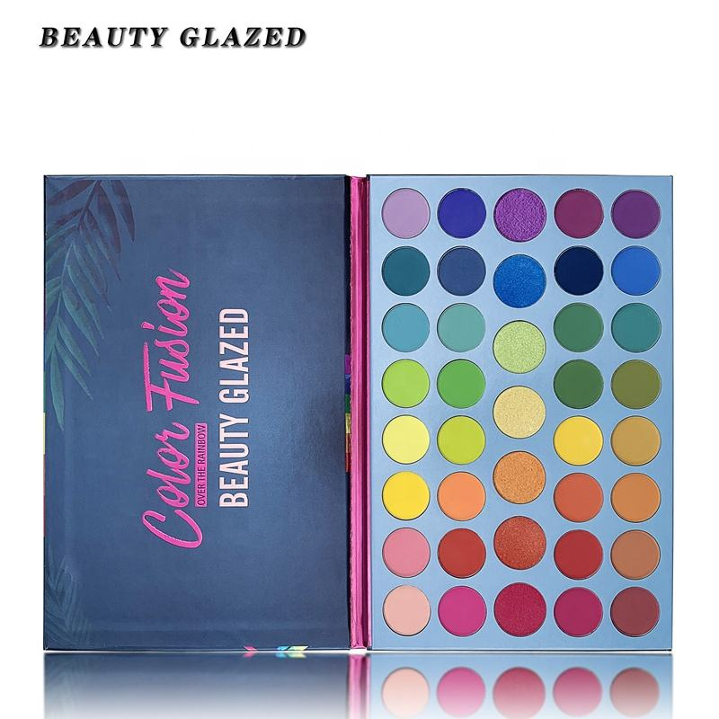 BEAUTY GLAZED 39 Color Rainbow Eyeshadow Palette Shimmer Matte Long-lasting Eye Shadow pigmented Cosmetics