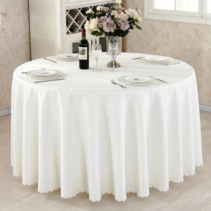 Polyester wholesale wedding round table cloth for party banquet hotel in washable polyester tablecloth