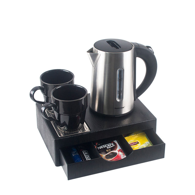Honeyson new hot hotel 0.6L mini electric kettle drawer tray set