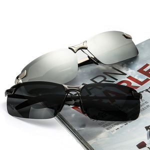 High Quality Black Alloy+PC Frame 9 Layers HD UV400 Polarized Sun Glasses Fashion Driving Sunglasses