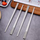 Custom Wedding Gift Souvenirs Stainless Steel Metal Chopsticks