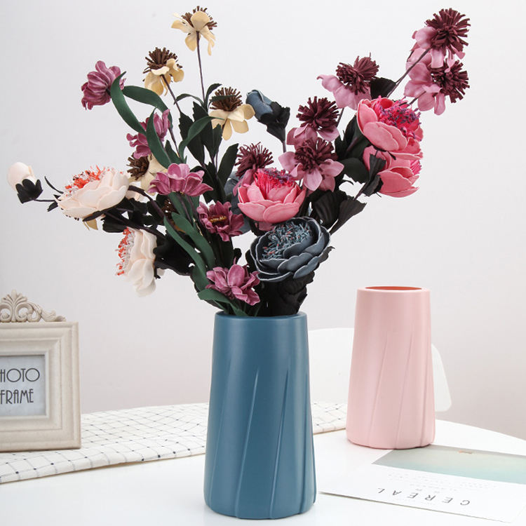 High Quality Nordic Style Large Plastic Flower Vase For Wedding Centerpieces Home Hotel Office Decoration