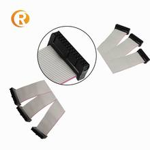6 - 60 64 pin 1.27 2.0 2.54MM pitch 20 30 40pin idc connector grey flat cable assembly ribbon cable