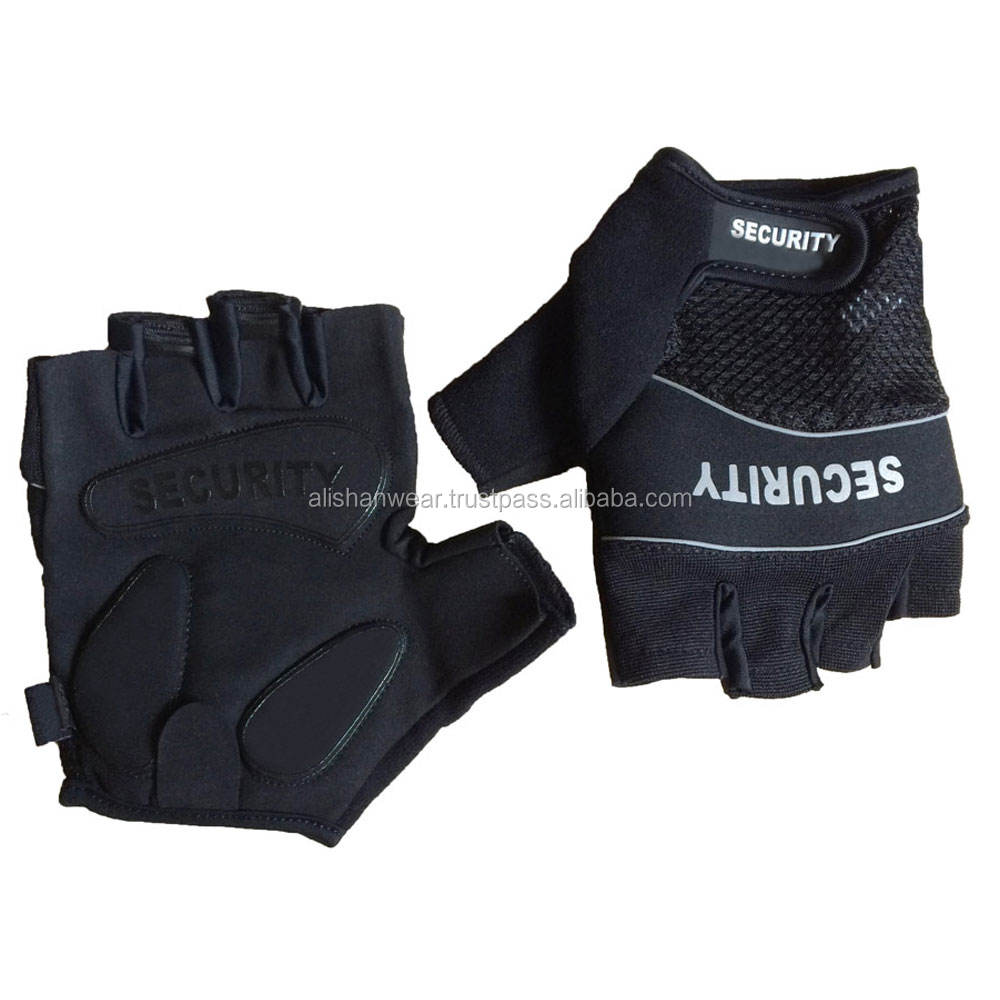 PRI Factory Price Anti Impact Leather Hunting Fingerless Military Tactical Police gloves