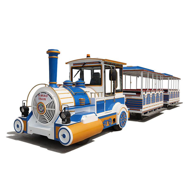 battery shopping mall Christmas outdoor electric trackless train happy train for sale