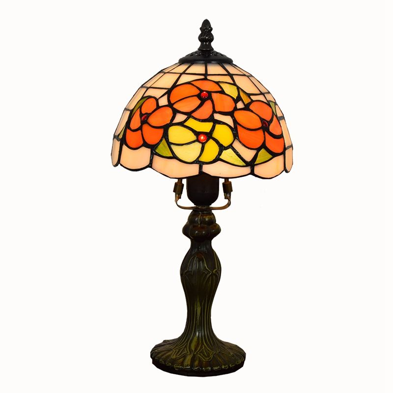 20CM American Rural creative retro Tiffany stained glass dining room bedroom bar lamp Holiday gift Jigsaw puzzle Solder lamp