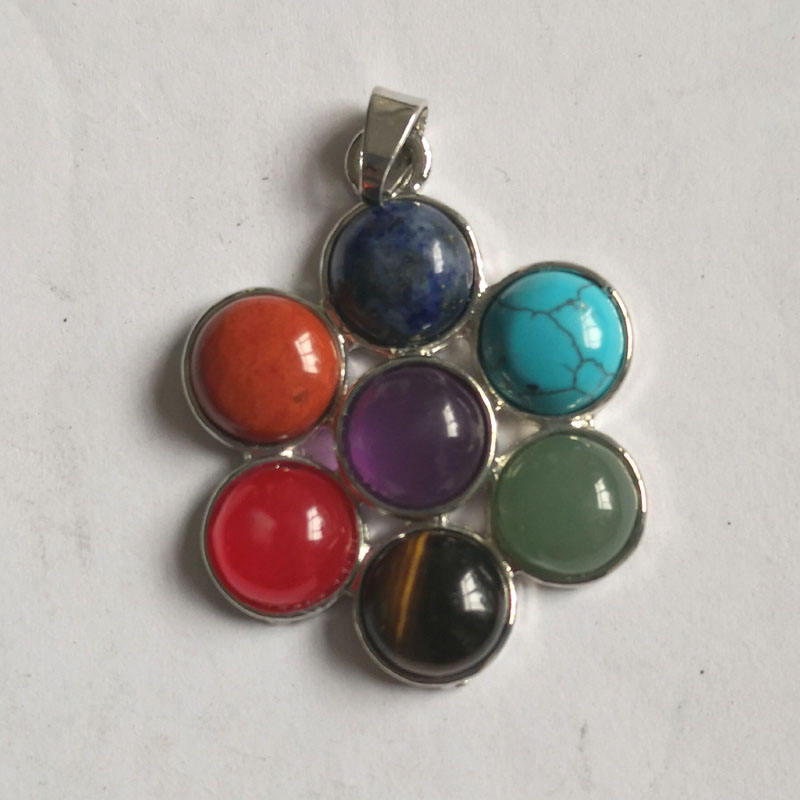semi-precious gemstone chakra pendant necklace