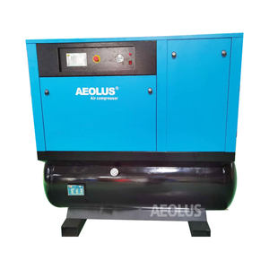 AEOLUS high pressure air compressor mountain on 500 lilter tank dryer 16bar compressor for Lazer cutting machine