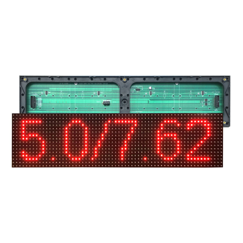 Indoor F5.0 unit board led display advertising screen rolling electronic subtitle module P7.62 red screen