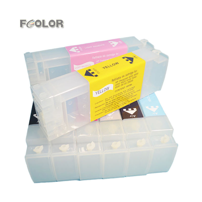 Manufacture for HP 81 Refillable Ink Cartridges for HP DesignJet 5000 / 5500 / 5000ps / 5500ps Plotter Cartridges