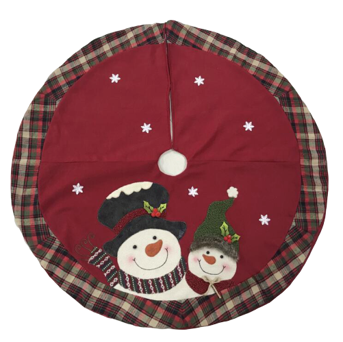 "48"" New Design Cheap Dark red Christmas Tree Skirt"