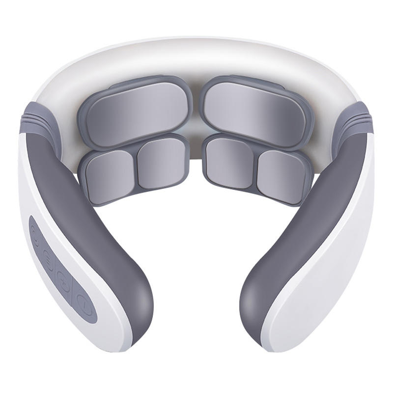 Amazon hot selling six heads neck massager intelligent electronic impulse neck shoulder therapy instrument