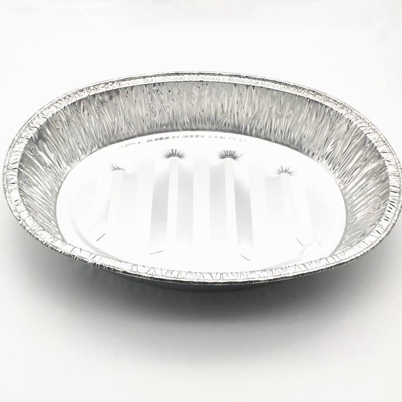 28cm Snack Size Embossed Foil Platter Serving Dish Aluminium Silver Tray