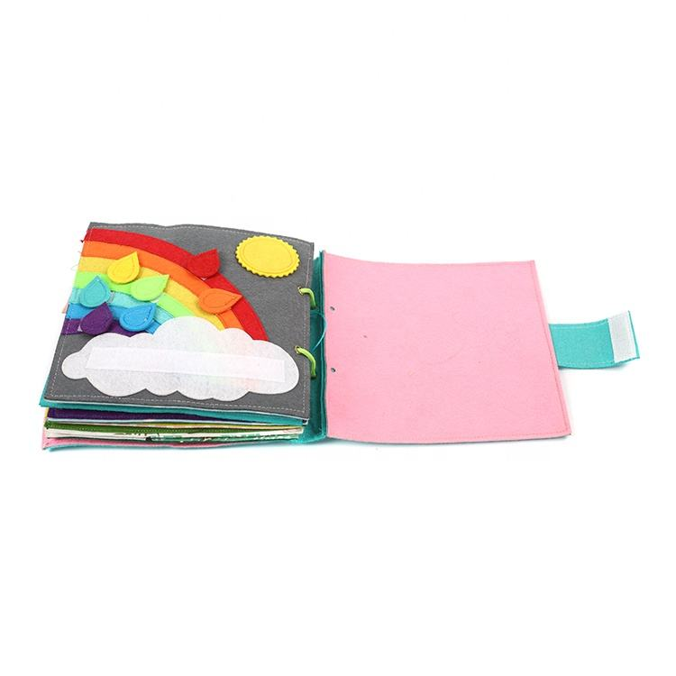 Soft educational quiet book cloth book baby cloth book with tiger design wholesale