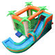 Commercial party game inflatable jungle bouncer with pool inflatable bouncy house with pool for summer