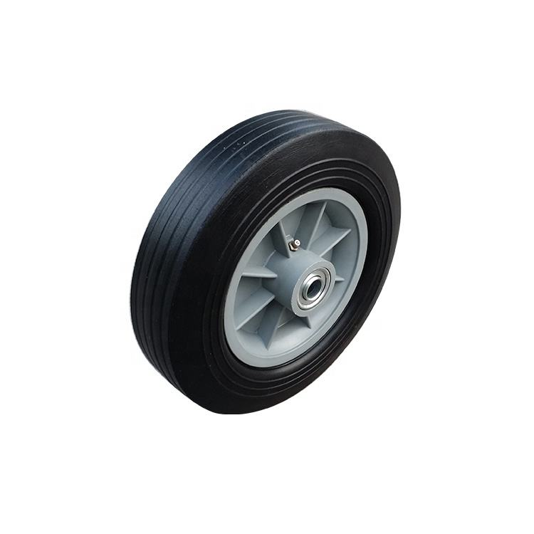 Plastic rim 10x2.75 trolley solid rubber wheel from qingdao factory supply