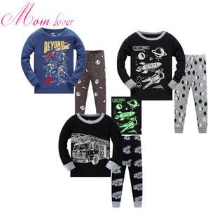 High quality children warm clothes cotton pajamas custom boys and girls sleepwear