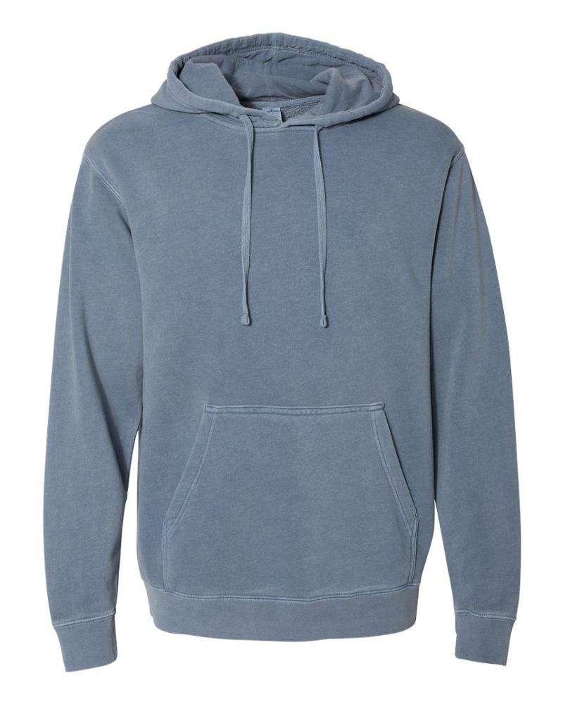 Wholesale Custom High Quality Pull Over Pigment Dyed Washed Hoodies With Fleece
