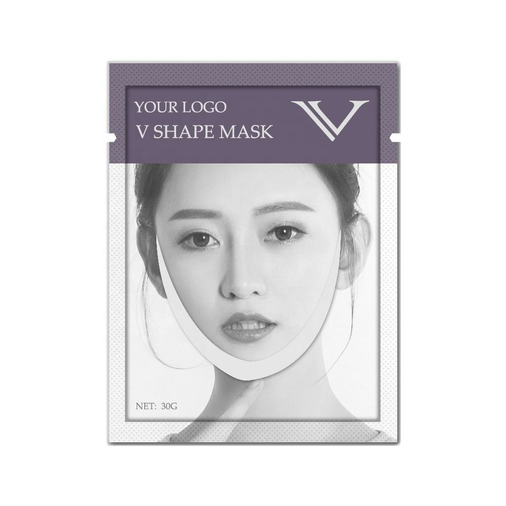OEM ODM Private Label V Line Face Lift Double Chin Reducer Moisturizing Slimming Wrinkles Chin Up Patch Face Mask V Mask