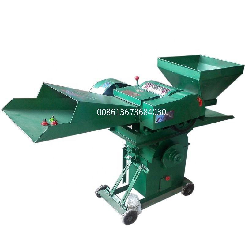 Top manufacturer small combined chaff cutter and crusher machine