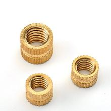Custom Round Brass Female Threaded Insert Nuts