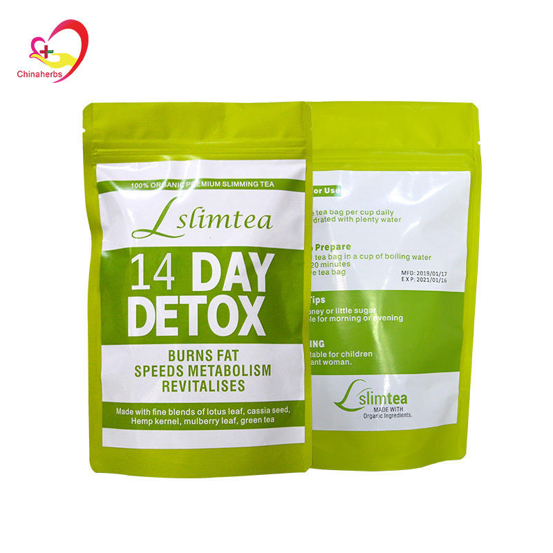 Private label 14 Day Teatox Detox Herbal Tea Supplement Flat Tummy Tea Cleanse and Detox