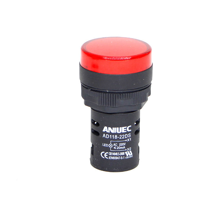 AD16-22DS Industrial Red Pilot Luz Sinais de Volta Indicator Lamp