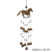 Wholesale  Metal Horse Wind Chime for Home & Garden Decoration