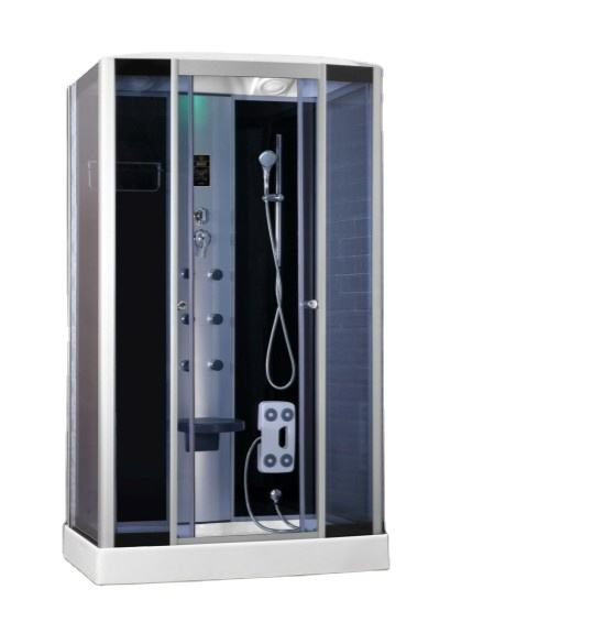 European High-tech Tempered Glass Square Steam Wall Shower Cabin Shower Room New Shower Cabin