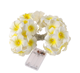 FC-1033 Amazon hot selling Hawaii Egg Plumeria Flower Holiday Led String Fairy Lights Artificial Flowers