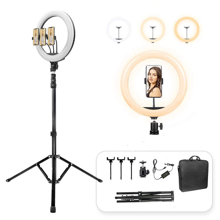 Tik Tok Live Show Ring Fill Lights Mobile Tripod Stand With Custom Size Making Photo and Video