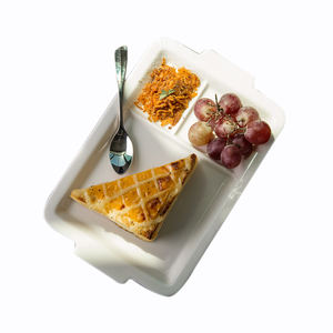 Wholesale Three Section Fast Food Plate/Snack Tray dinner plates 3 sectional division plates