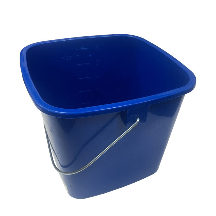 ESD Hotel and Hospital All Types of Plastic Water Cleaning Pail Square Bucket With Pouring Spout and Handle