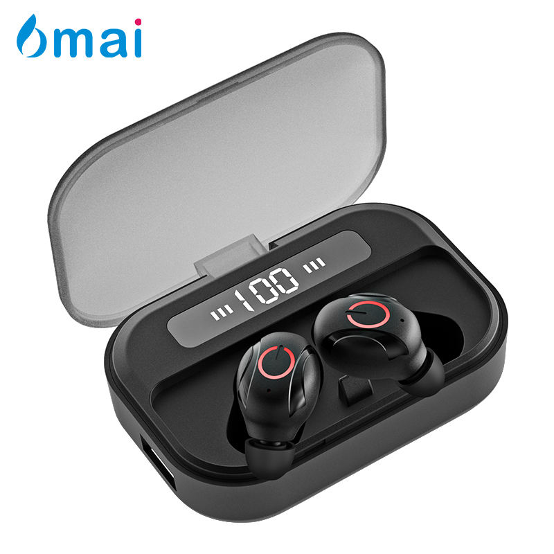T8 Wireless Bluetooth Earphone TWS Sport Bass LED Power Digital Display Mini colorful Headphones With 1500mAH Charging Box