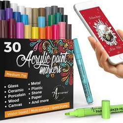 Acrylic Paint Marker Pens, OUSI 20 Paint Markers for Kids Ad