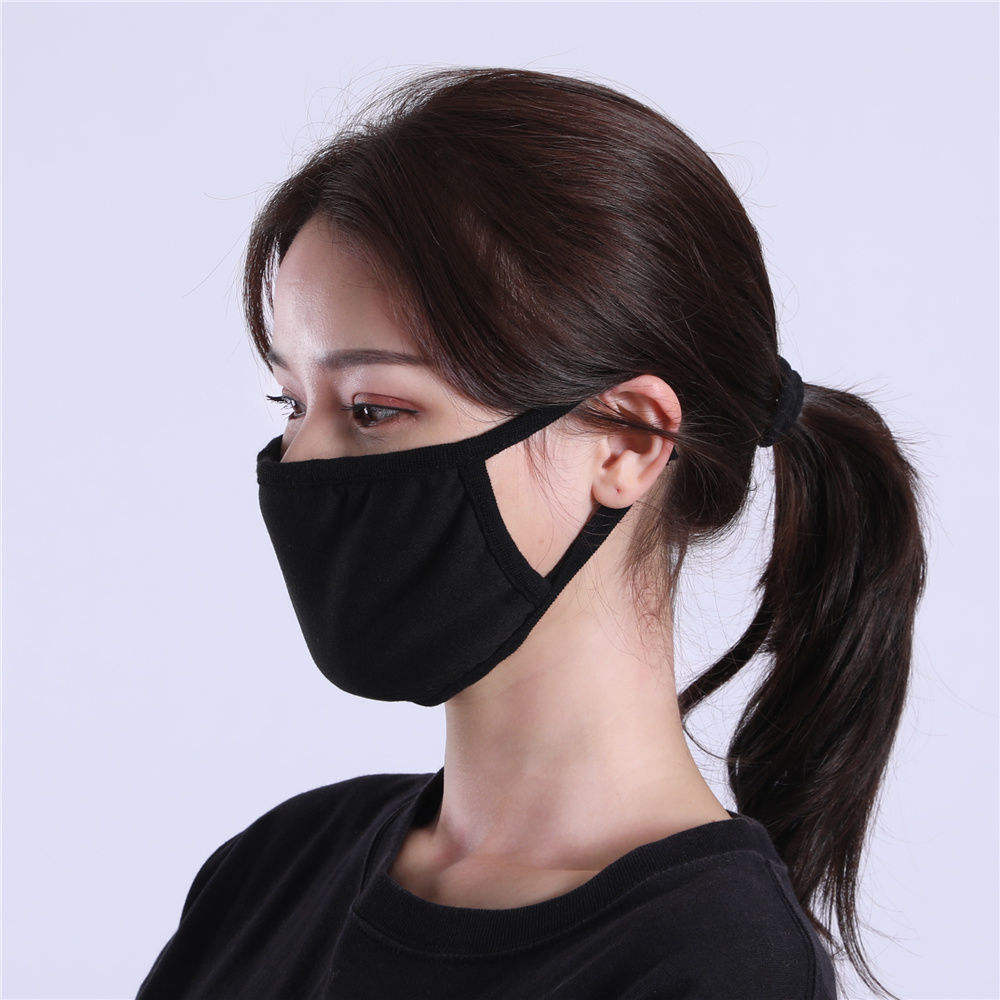 Fashion sublimation print designer maskes custom black facemask reusable washable cotton cubrebocas black maskes