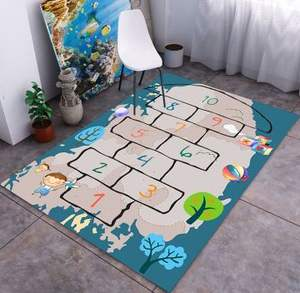 kids play rug learning Educational hopscotch carpet Design map carpets