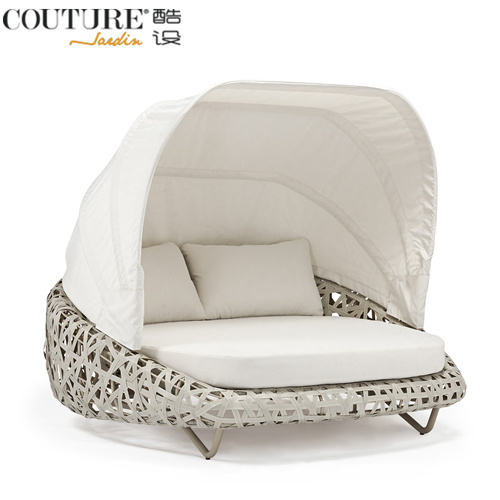 Couture Jardin Wellung Outdoor Rund Sofa Runde Bett Möbel Garten Sofas Runde Betten Outdoor Rattan Komfortable