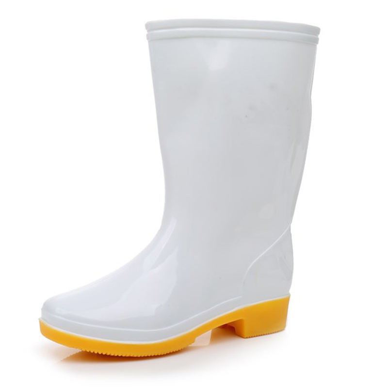 Anti static rain boots white insolent safety shoes steel toe cap work boots
