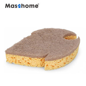 Masthome Double-sided Reusable natural loofah dish sponge to clean loofah kitchen sponge scrubber with loofah pad