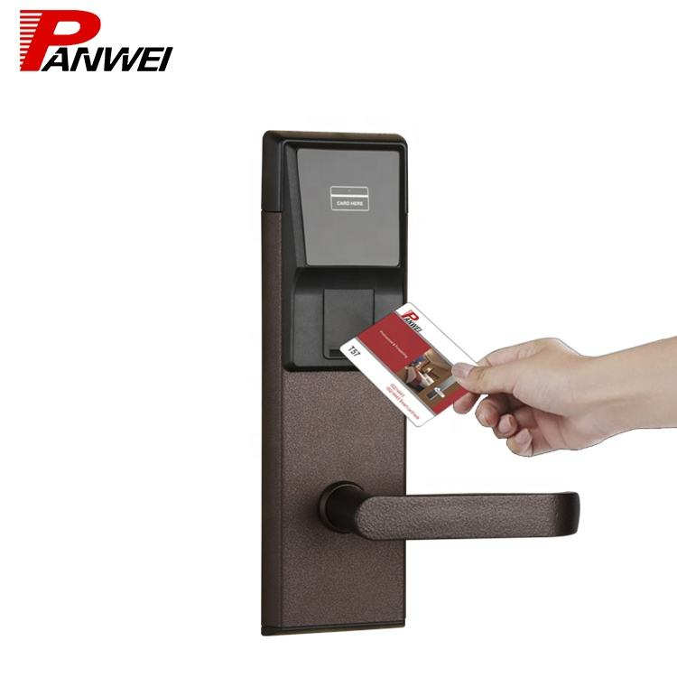 2020 new arrived hotel lock security keyless entry smart door lock which top advanced smart designed card lock system